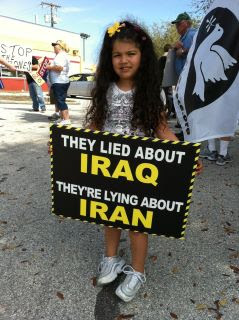 Little girl's sign: They lied about Iraq